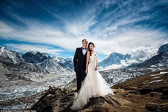 boda en el Everest