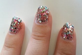uñas brillantes