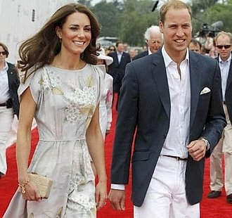 Príncipe William y Kate Middleton en la alfombra roja