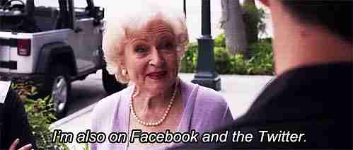 betty white facebook twitter
