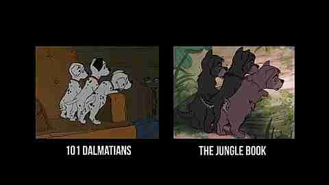 comparación de películas de disney