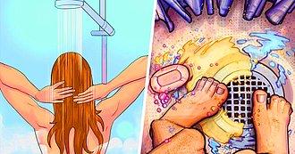 Orinar en la ducha