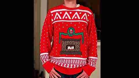 suéter navideño con bolsillo para celular