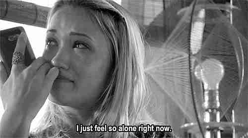 Me siento tan sola ahora mismo