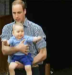 Principe William y su hijo George