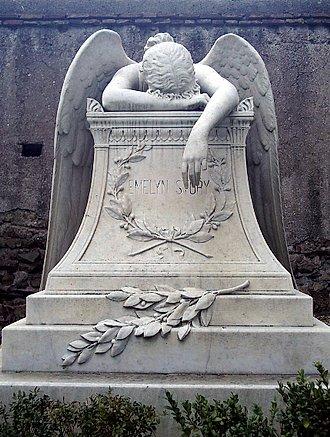 Angel de la pena, en Italia