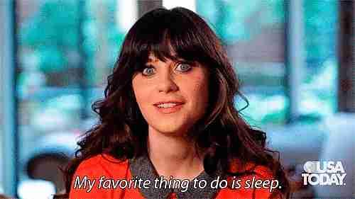 Mi cosa favorita para hacer es dormir