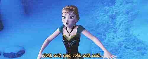 gif Anna frozen frío