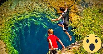 Pozo de Jacob río Cypress Creek Wimberley Texas