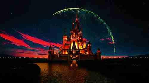 castillo de Disney gif