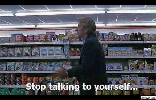 hablar solo