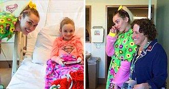Miley Cyrus Llora Emocionada al Escuchar como una Niña con Cáncer le Canta