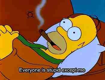 gif Homero sarcástico