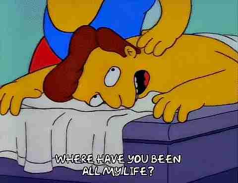 Masaje en Los Simpsons