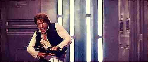 Han Solo corriendo.