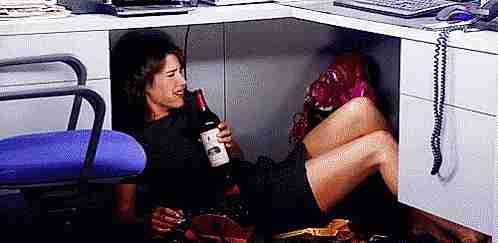 borracho en el trabajo