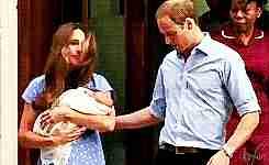 will y kate con su bebe