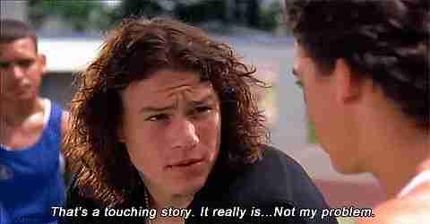"""""""Es una historia conmovedora. Pero realmente no es mi problema"""""""