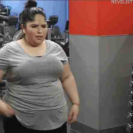 gif gordita haciendo ejercicio