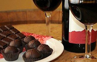 Chocolate con vino