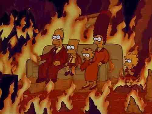 simpsons arden en el infieno