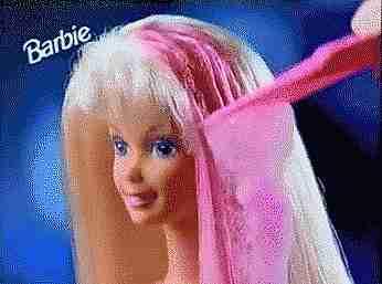 gif cabello barbie