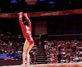 imagen de gimnasta haciendo piruetas