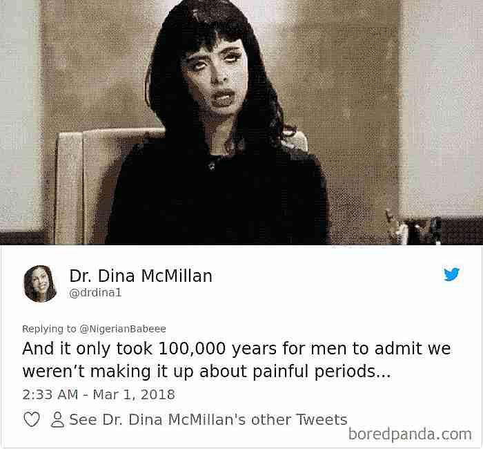 tweets sobre la menstruación