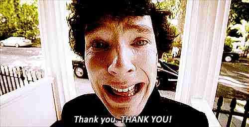 persona diciendo gracias