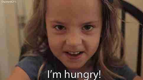 ¡Tengo hambre!