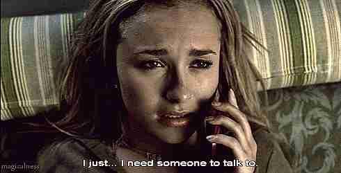 Solo necesito a alguien con quien hablar