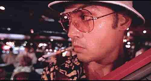 Johnny Depp como Hunter S. Thompson