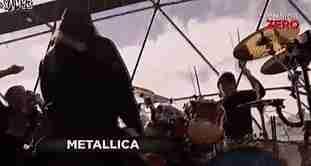 metallica tocando en la Antártida