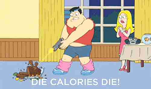 Mueran calorías, mueran