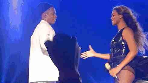 Beyoncé y Jay Z celebrando