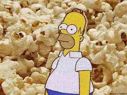 Palomitas de maiz y Homero