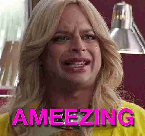 Close up de mujer diciendo amazing