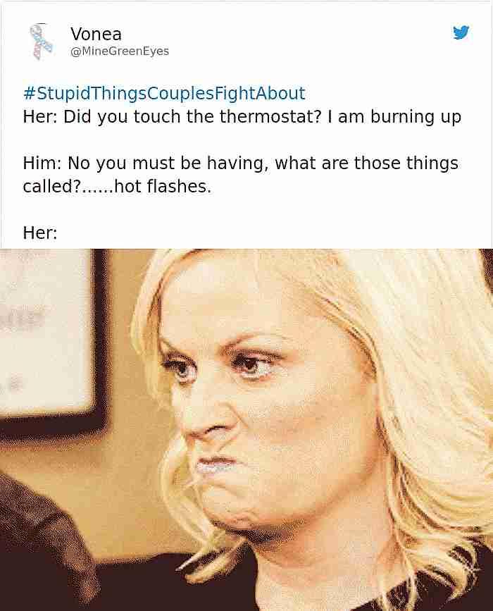 #StupidThingsCouplesFightAbout
