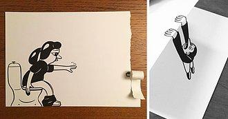 Este Ilustrador Usa Brillantes Trucos 3D para Dar Vida a sus Caricaturas