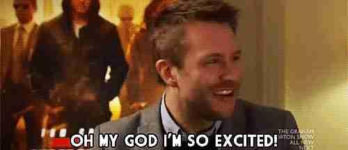 """""""Oh Dios, estoy muy emocionado"""""""