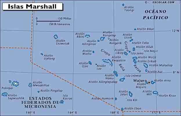 Mapa de Islas Marshall