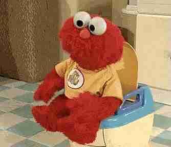 Elmo en el baño