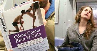 Descubre qué Sucede en el Metro Cuando Este Sujeto Coloca Cubiertas insólitas a su libro