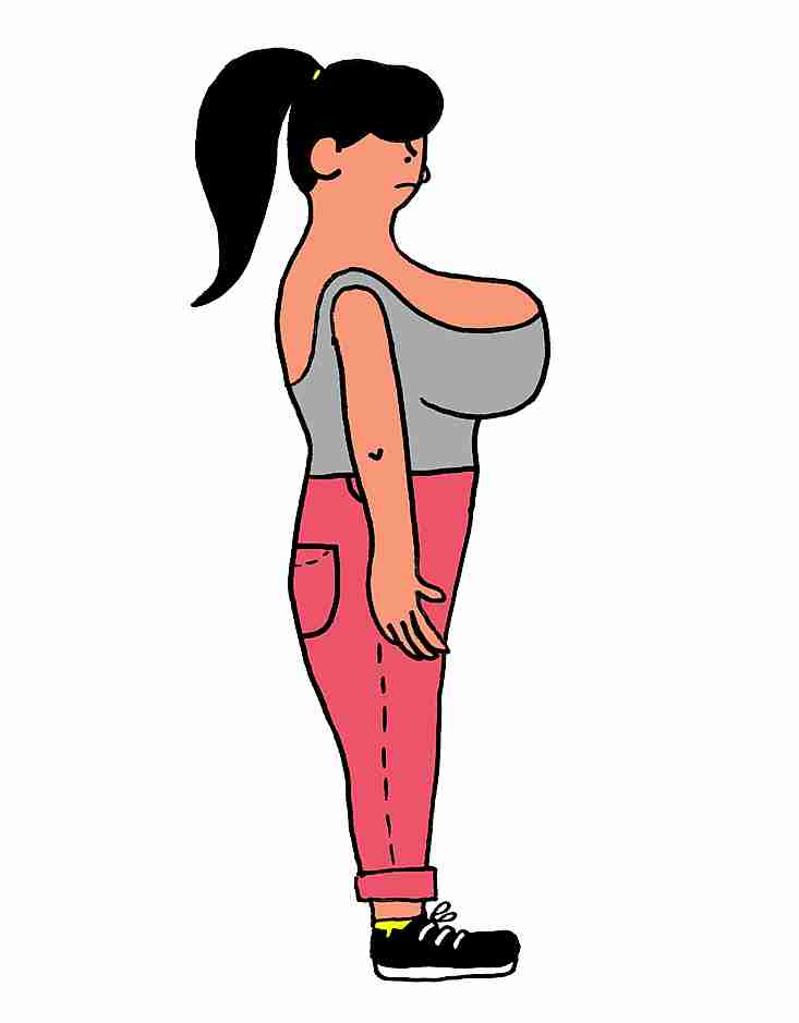 Mujer inconforme con su cuerpo
