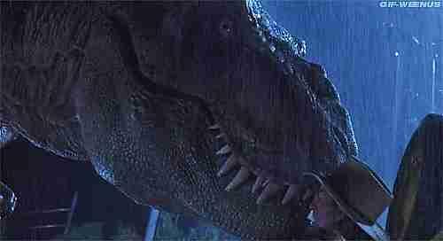 Escena de tiranosaurio de Jurassic Park
