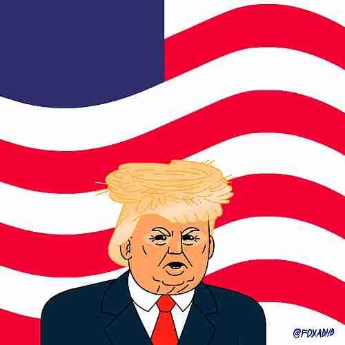 Donald Trump con Águila
